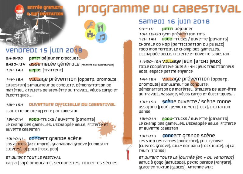 Programme Cabestival